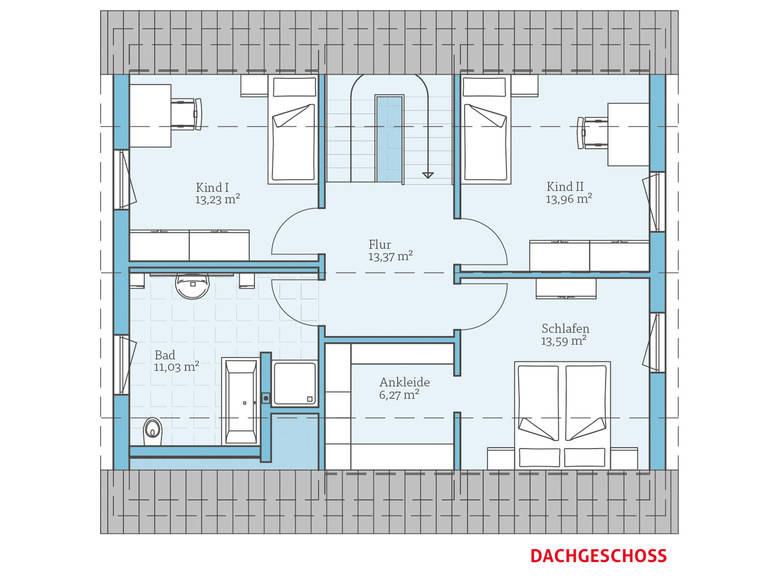 Hanse Haus Variant 45-154 Grundriss OG
