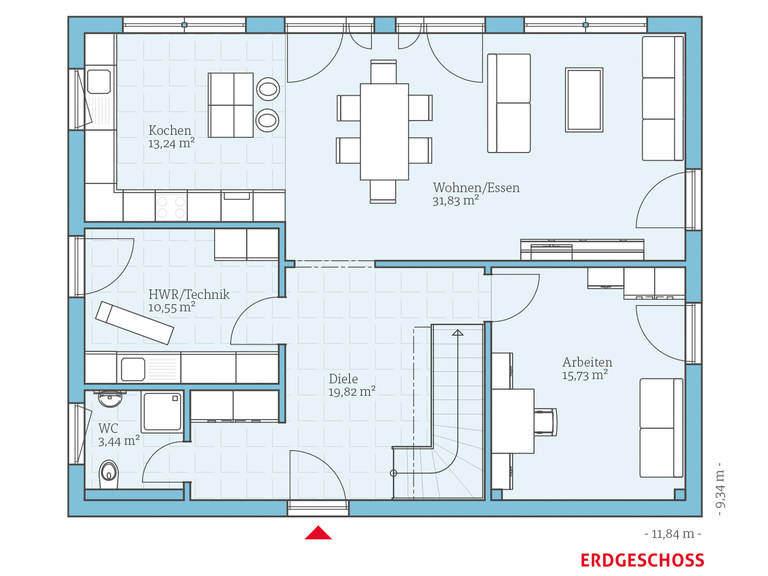 Hanse Haus Variant 45-175 Grundriss EG