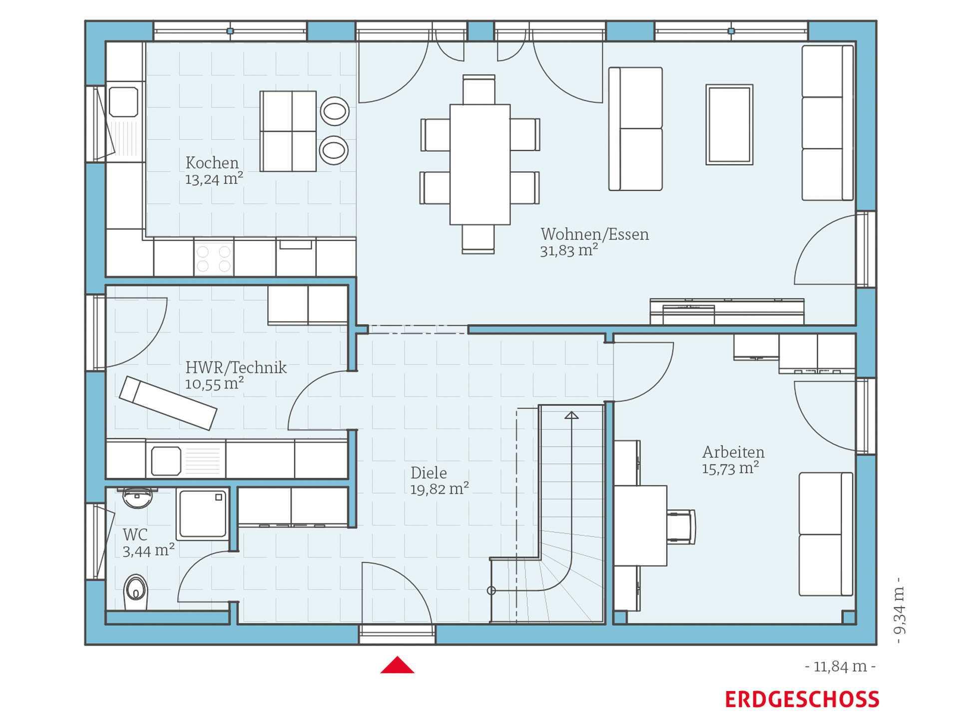 variant 45 175 hanse haus. Black Bedroom Furniture Sets. Home Design Ideas