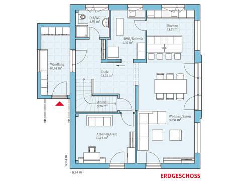 Hanse Haus Variant 45-192 Grundriss EG