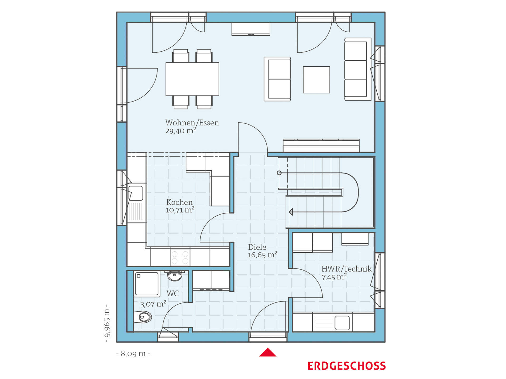 Hanse Haus Villa 133 Grundriss EG