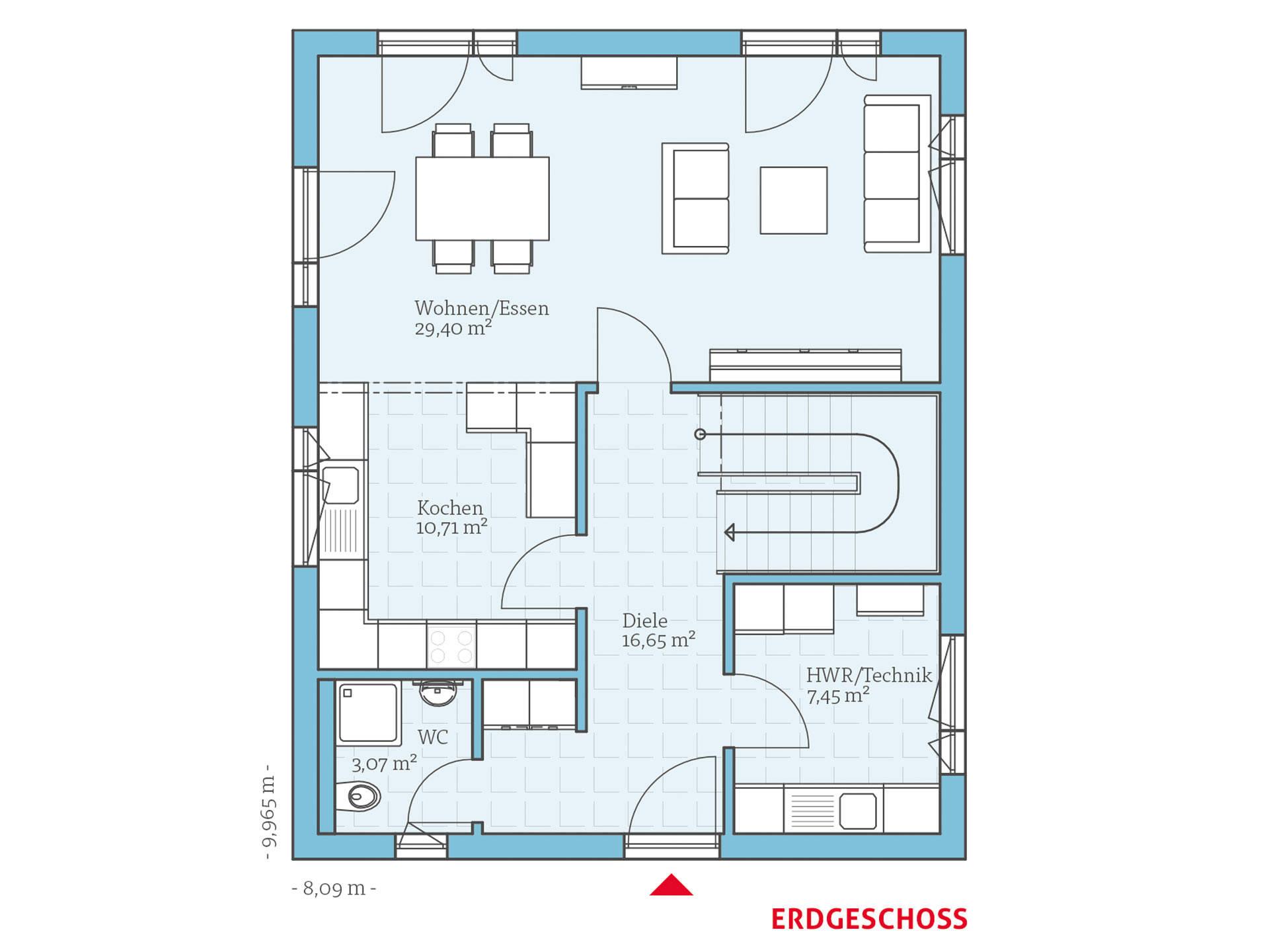 villa 133 hanse haus. Black Bedroom Furniture Sets. Home Design Ideas