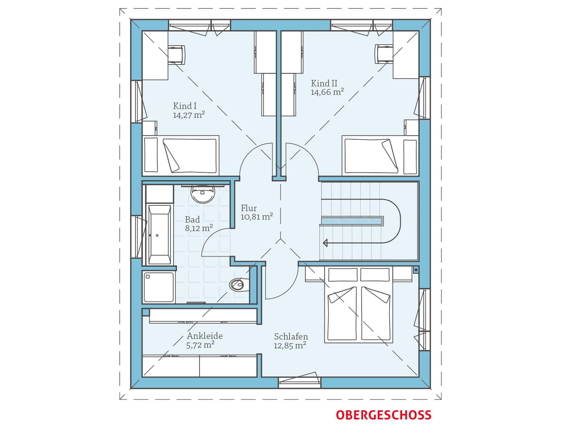 Hanse Haus Villa 133 Grundriss OG
