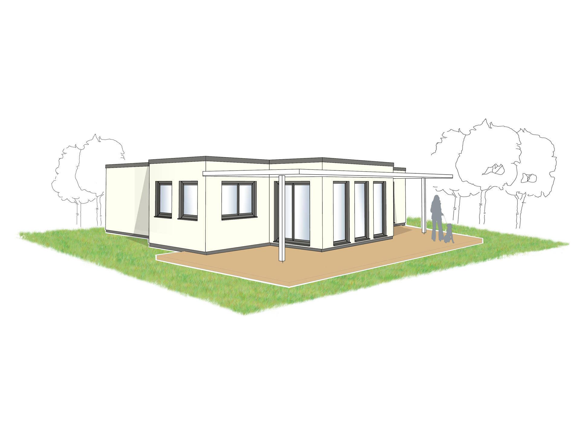 Bungalow Campus 120 Zeichnung von Partner-Haus