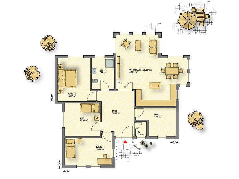 Bungalow Campus 120 EG von Partner-Haus