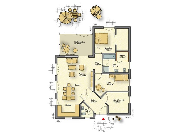 Bungalow Campus 120 WD EG von Partner-Haus
