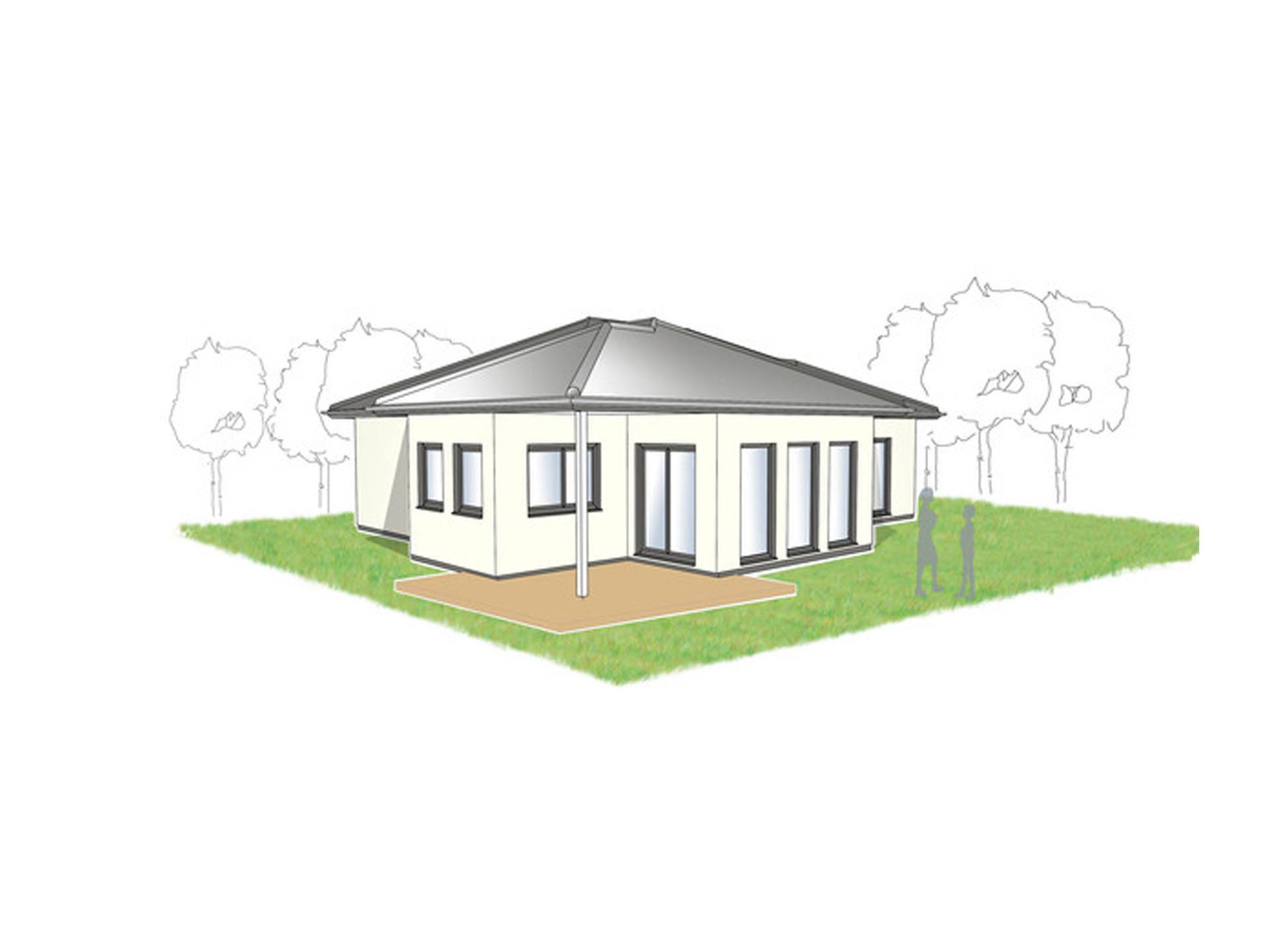 Bungalow Campus 120 WD Zeichnung von Partner-Haus