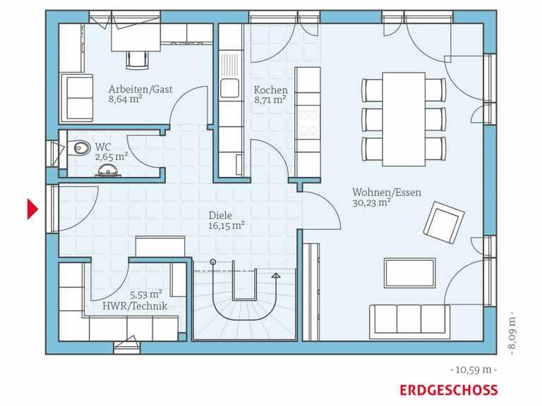 Hanse Haus Villa 142 Grundriss EG