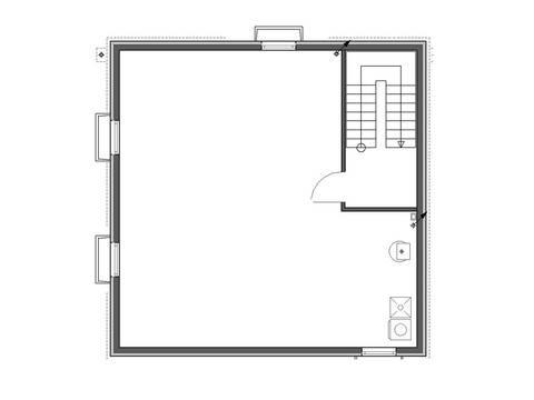 Individueller Grundriss Erdgeschoss Aktionshaus Cube 130 von Badenland