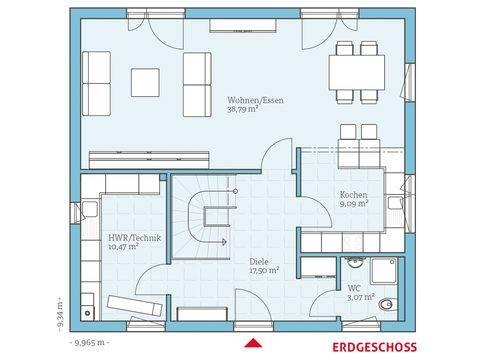 Hanse Haus Villa 156 Grundriss EG