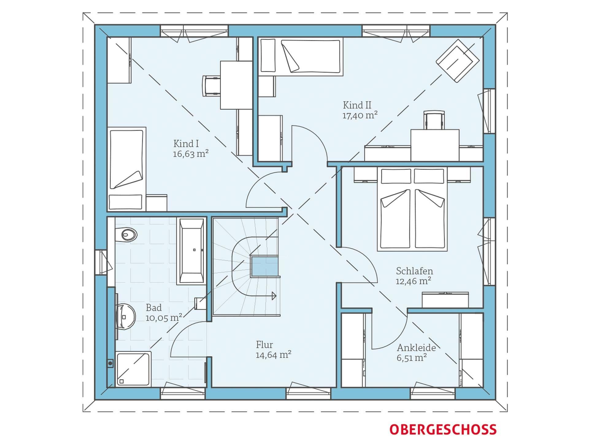 villa 156 hanse haus. Black Bedroom Furniture Sets. Home Design Ideas