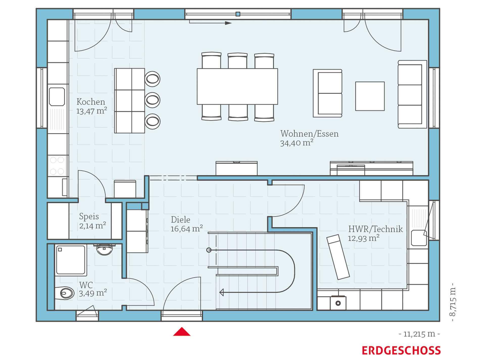 Hanse Haus Villa 165 Grundriss EG