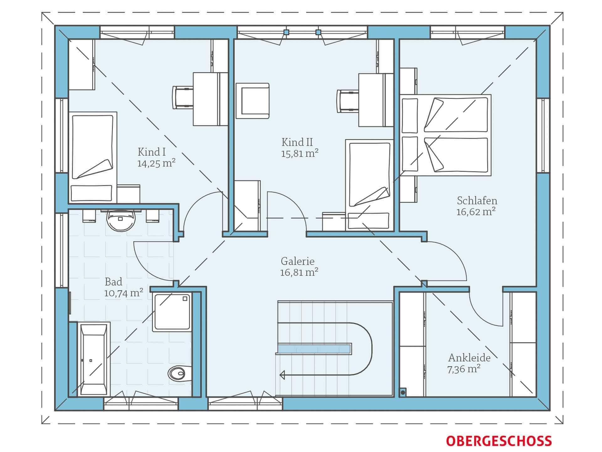 Hanse Haus Villa 165 Grundriss OG