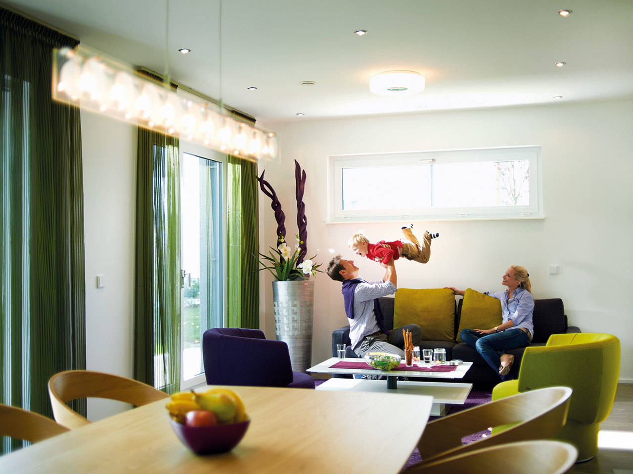 Hanse Haus Villa 165 Wohnzimmer