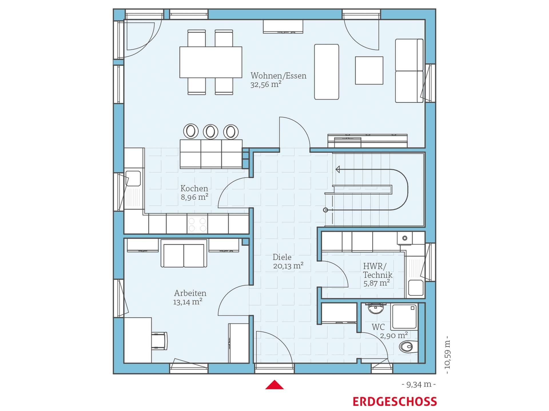 villa 167 hanse haus. Black Bedroom Furniture Sets. Home Design Ideas