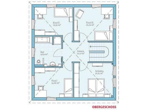 Hanse Haus Villa 167 Grundriss OG