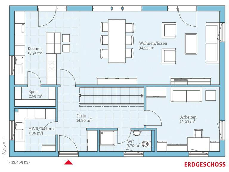 Hanse Haus Villa 183 Grundriss EG