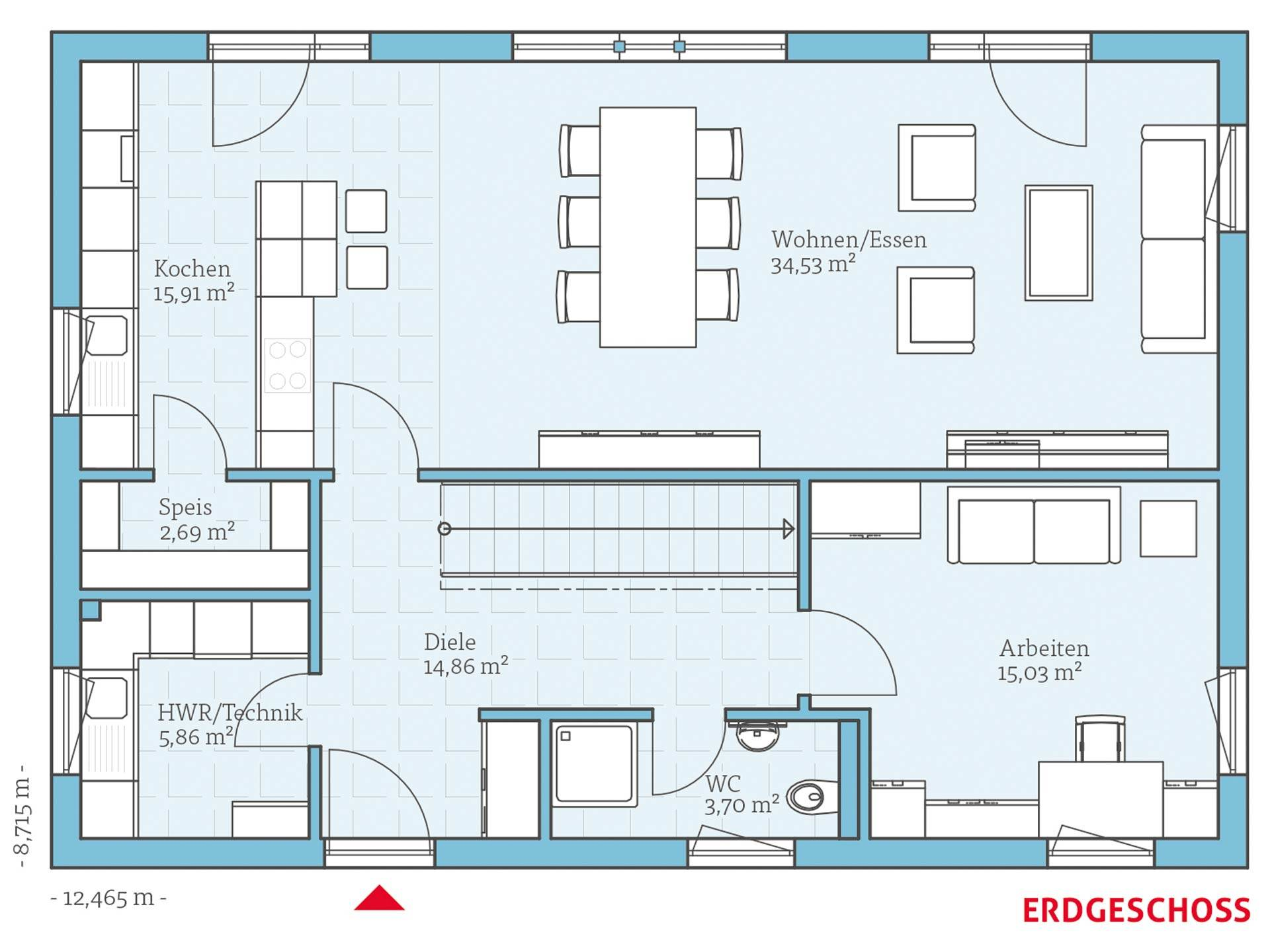 villa 183 hanse haus. Black Bedroom Furniture Sets. Home Design Ideas