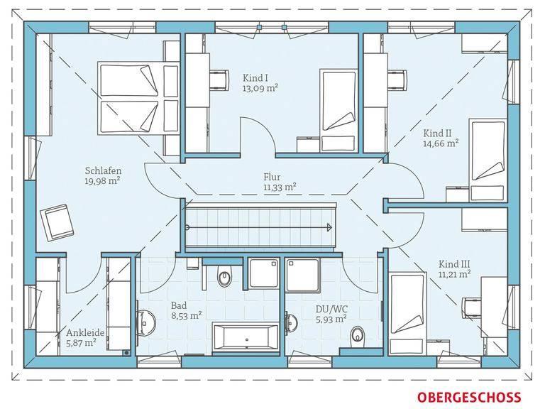Hanse Haus Villa 183 Grundriss OG