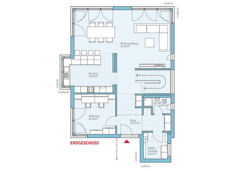 Hanse Haus Villa 189 Grundriss EG