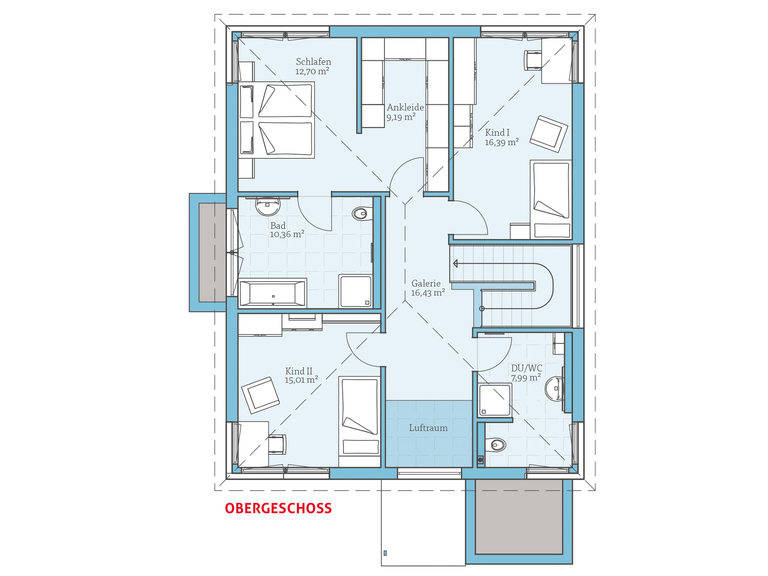 Hanse Haus Villa 189 Grundriss OG