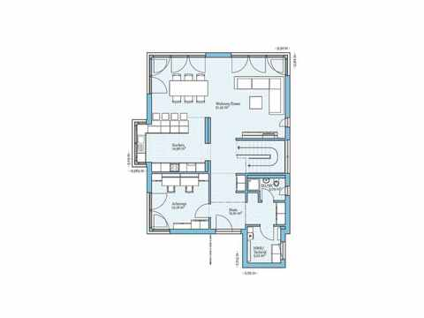 Villa 189 - HANSE-HAUS Grundriss EG