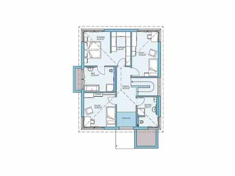 Villa 189 - HANSE-HAUS Grundriss OG