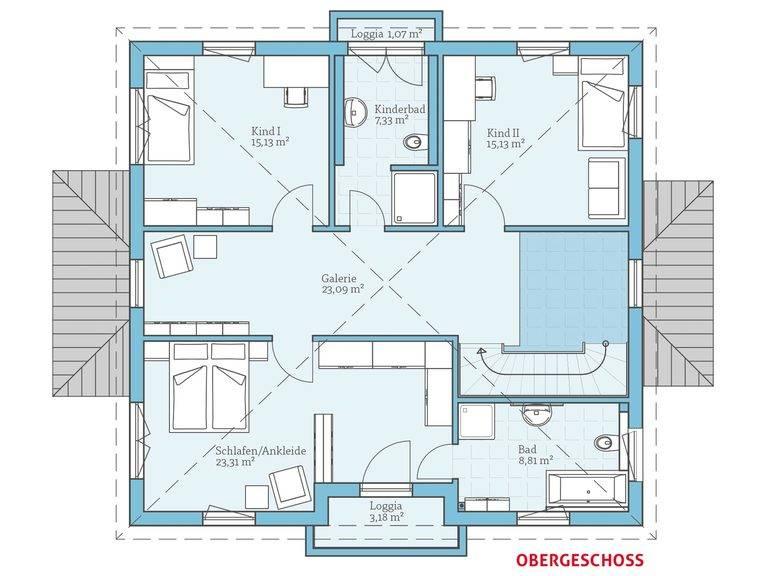 Hanse Haus Villa 207 Grundriss OG