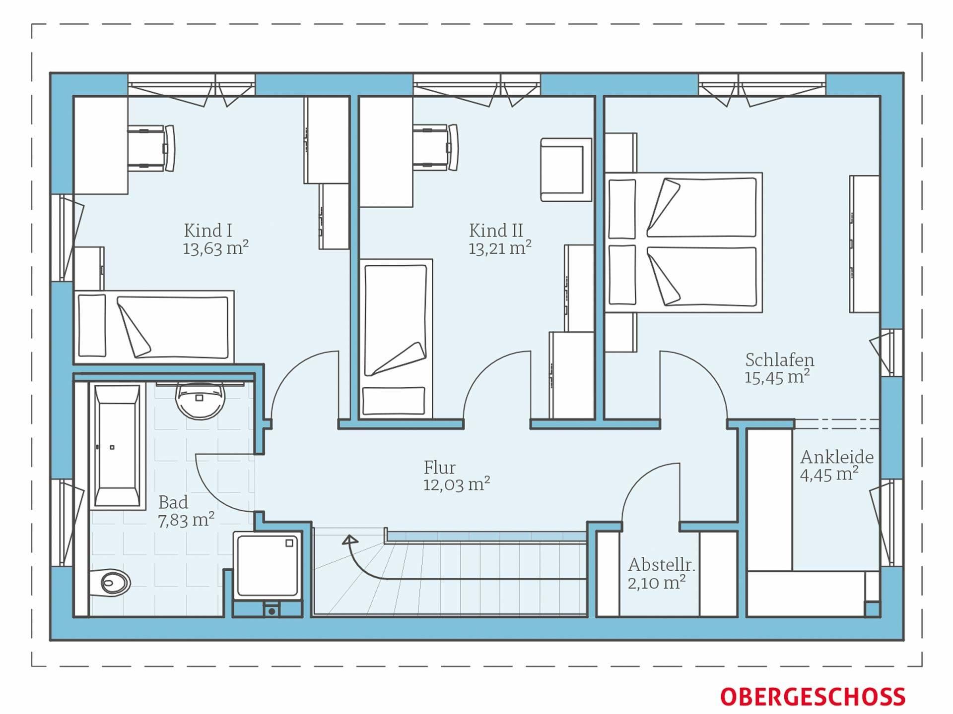 Hanse Haus Vita 138 Grundriss OG