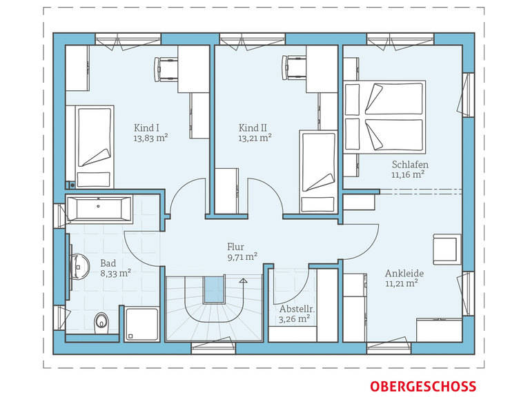 Hanse Haus Vita 143 Grundriss OG