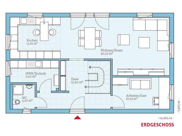 Hanse Haus Vita 156 Grundriss EG
