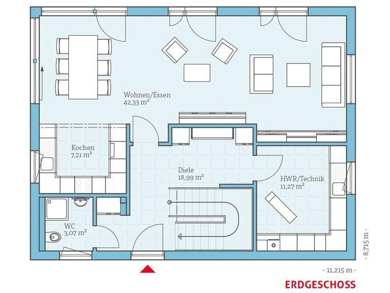 Hanse Haus Vita 165 Grundriss EG