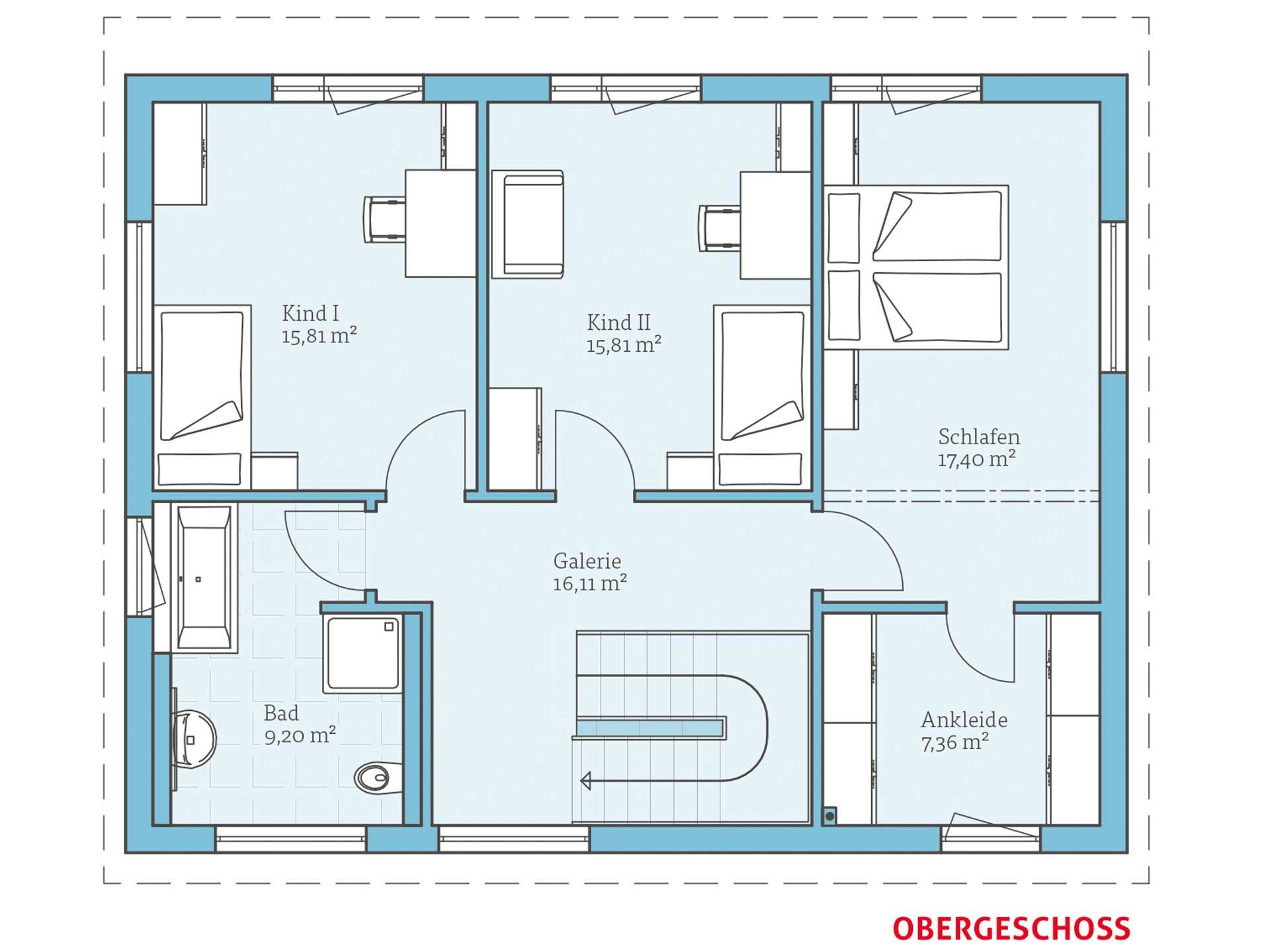 Hanse Haus Vita 165 Grundriss OG