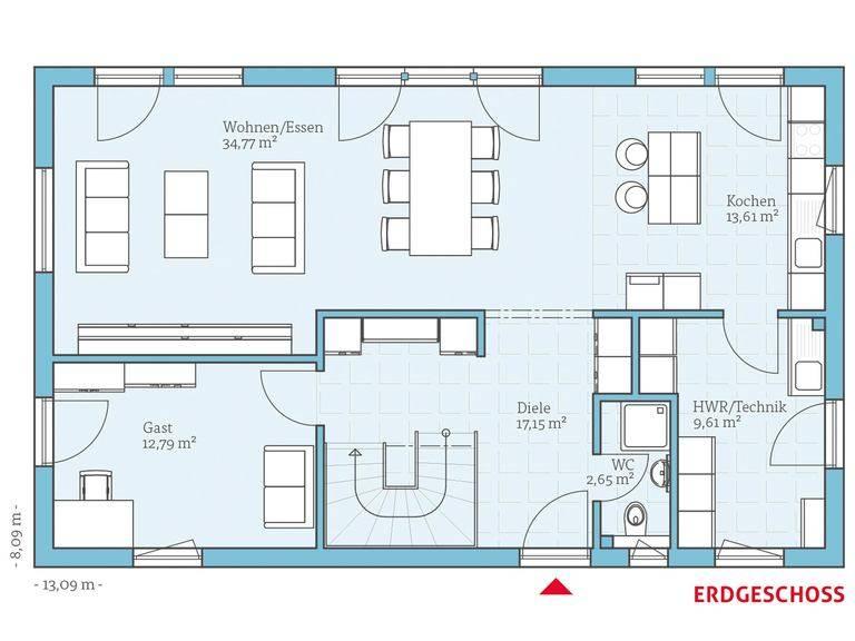 Hanse Haus Vita 180 Grundriss EG