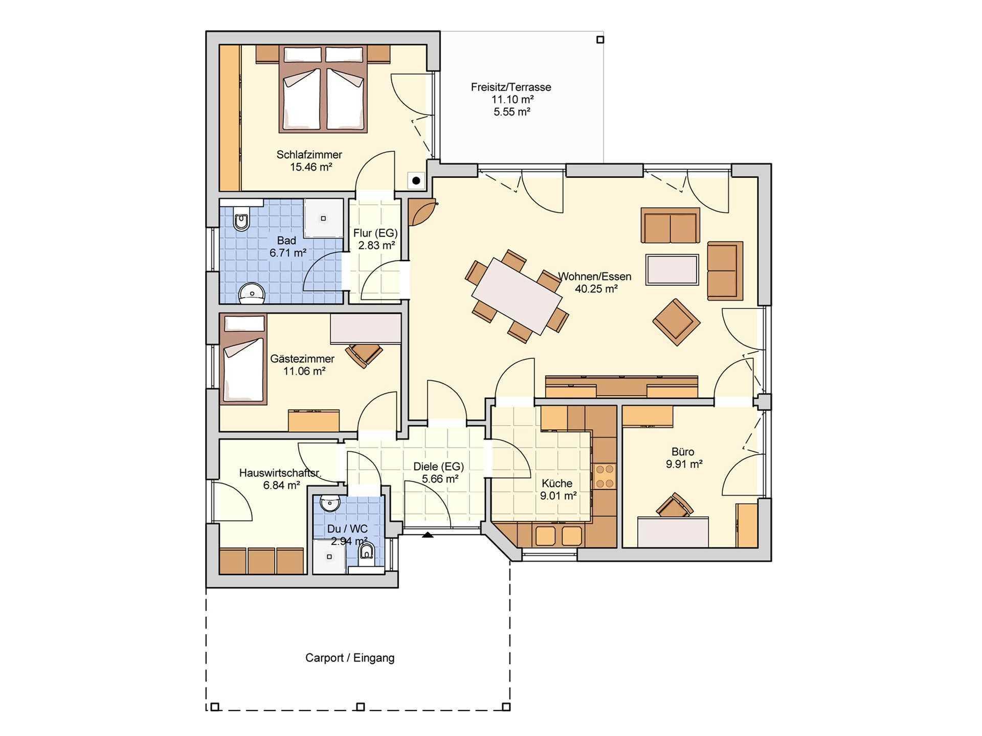 Fingerhut Haus B 144.10 Grundriss