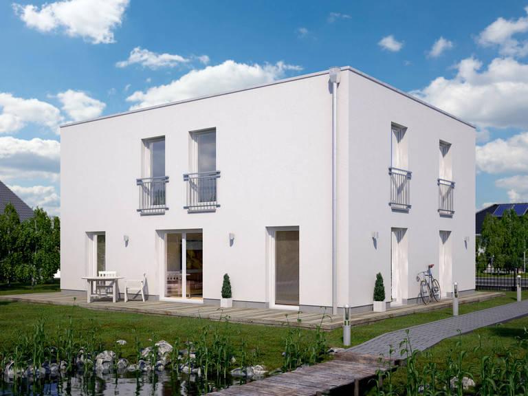Flachdach-Haus URBAN 1000.2 von Deutsche Bauwelten
