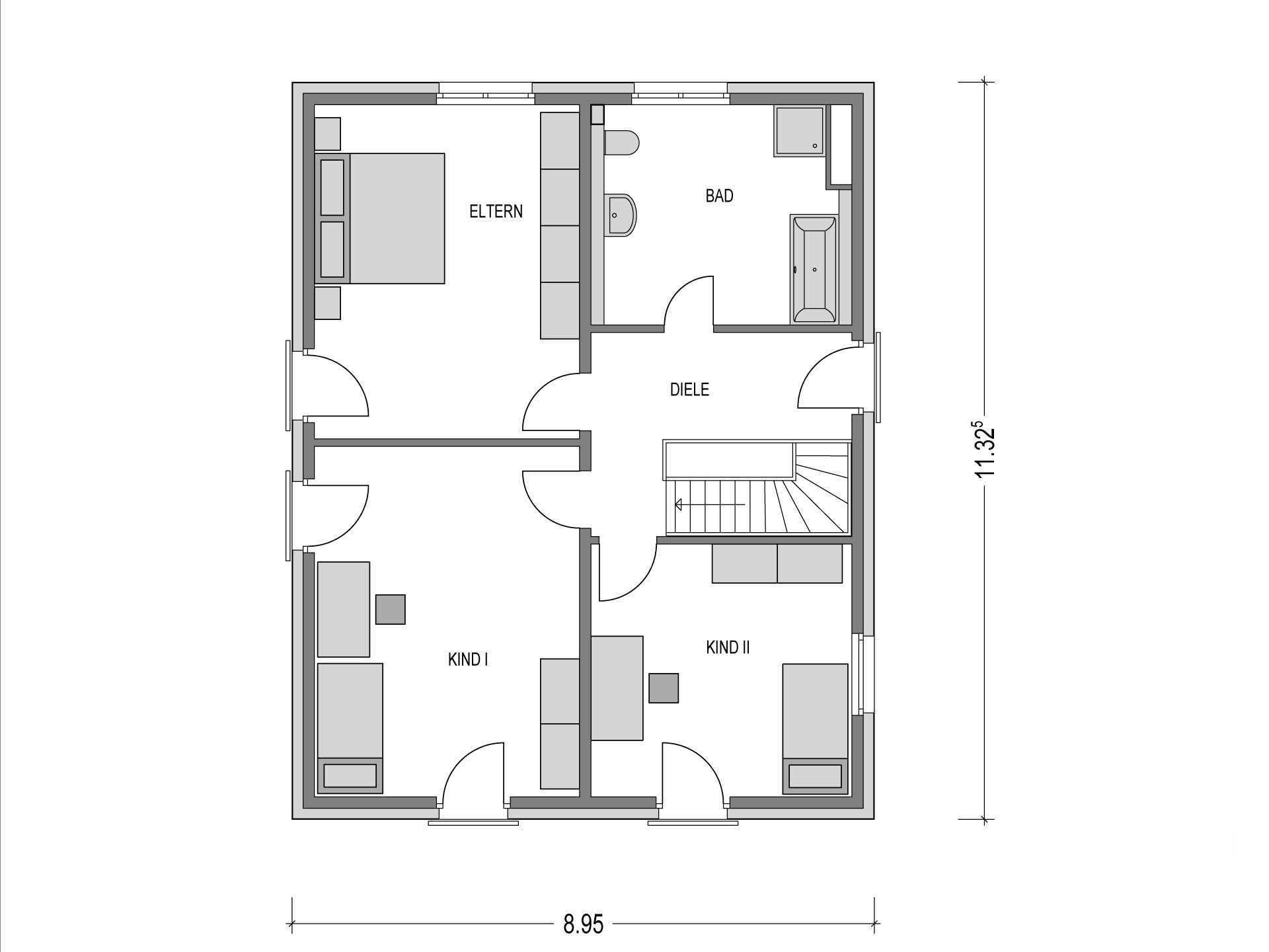Flachdach Haus Urban 1000 2 Deutsche Bauwelten Musterhaus Net