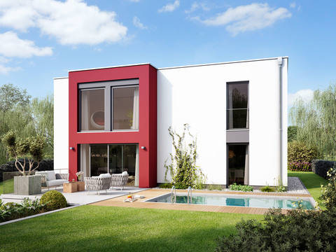 Flachdach-Haus URBAN 2000.2 von Deutsche Bauwelten