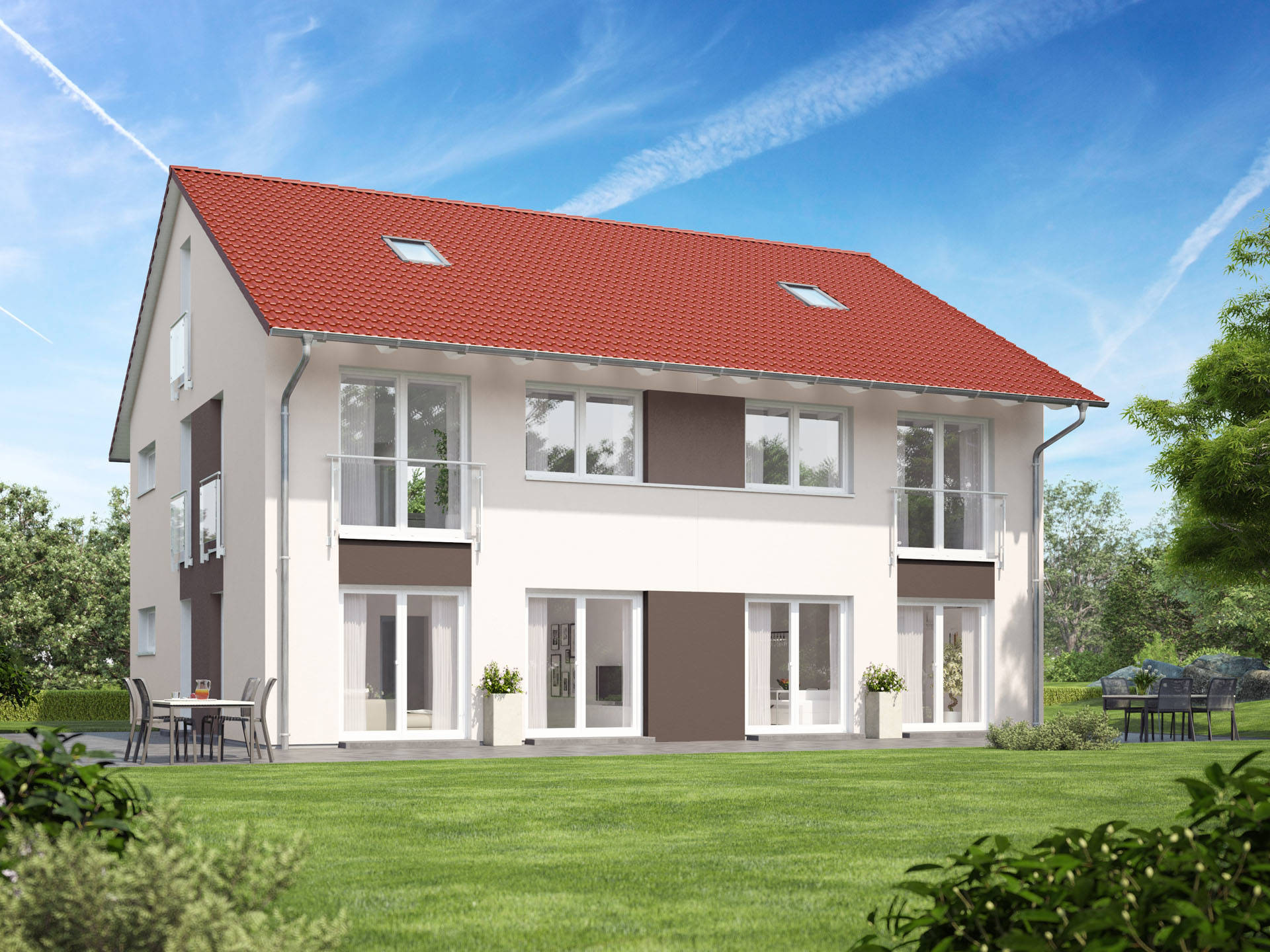 Doppelhaus VARIANT 1136.BB von Deutsche Bauwelten