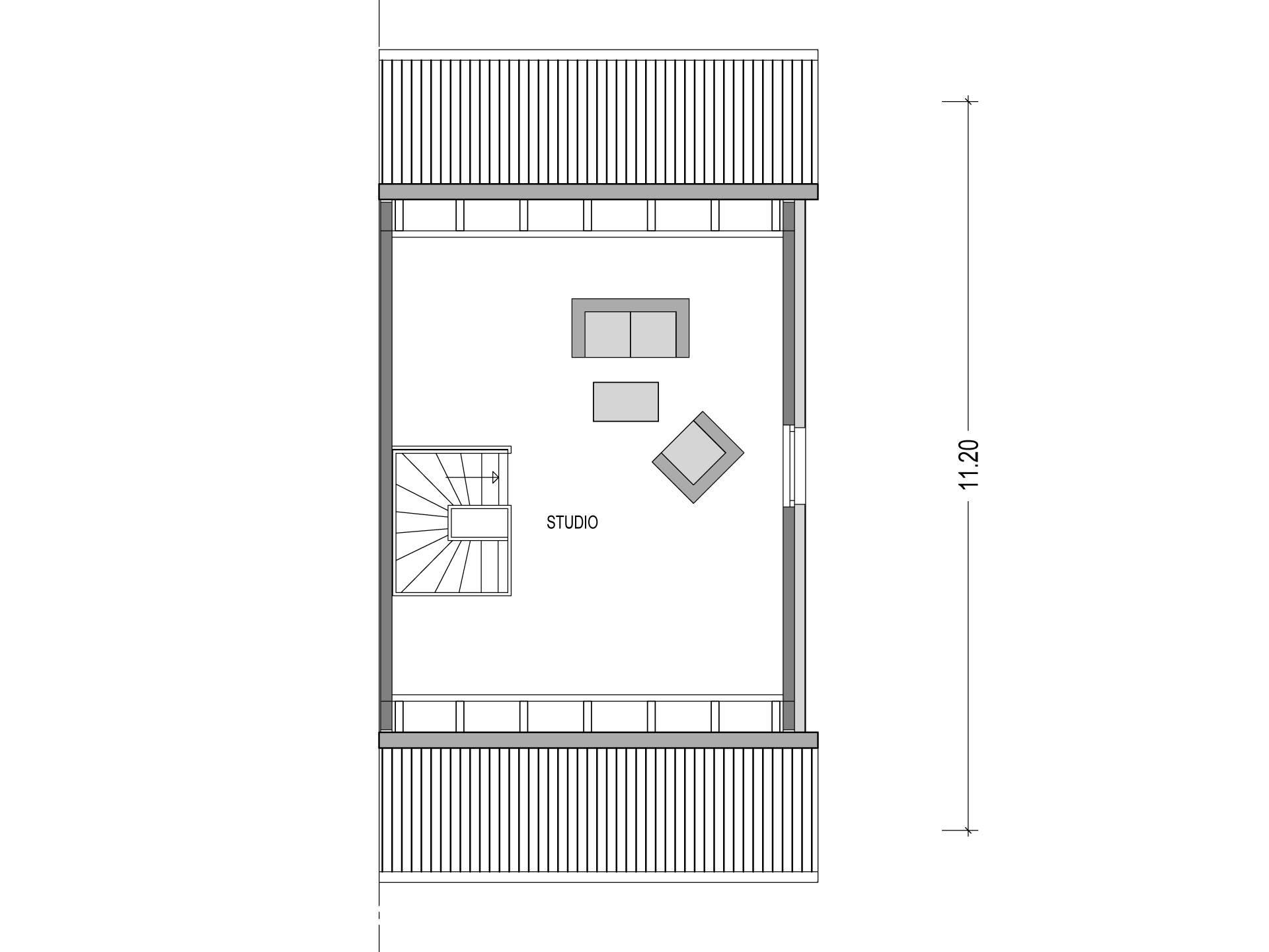 Doppelhaus VARIANT 1136.BB Grundriss DG von Deutsche Bauwelten