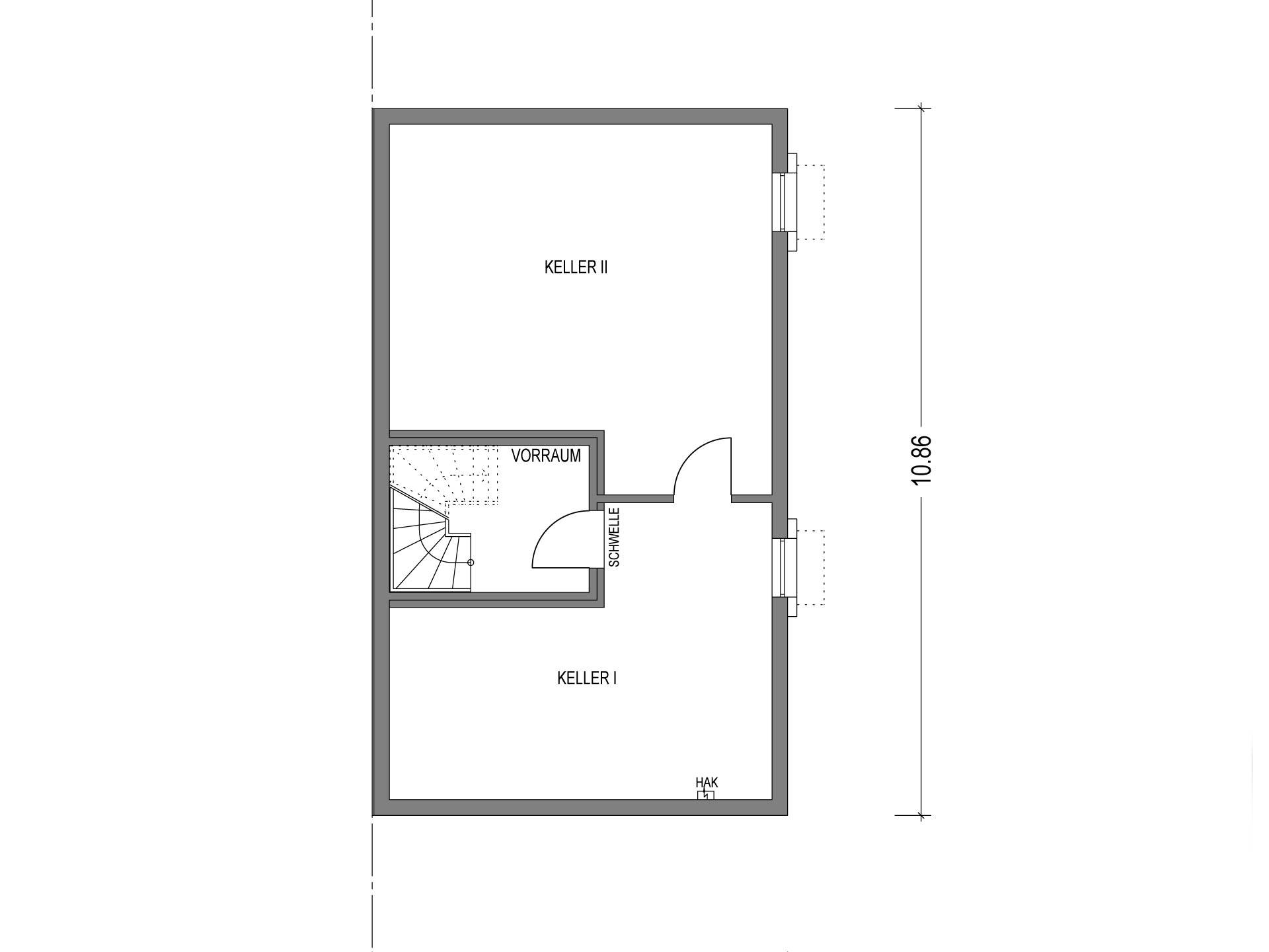 Doppelhaus VARIANT 1136.BB Grundriss KG von Deutsche Bauwelten
