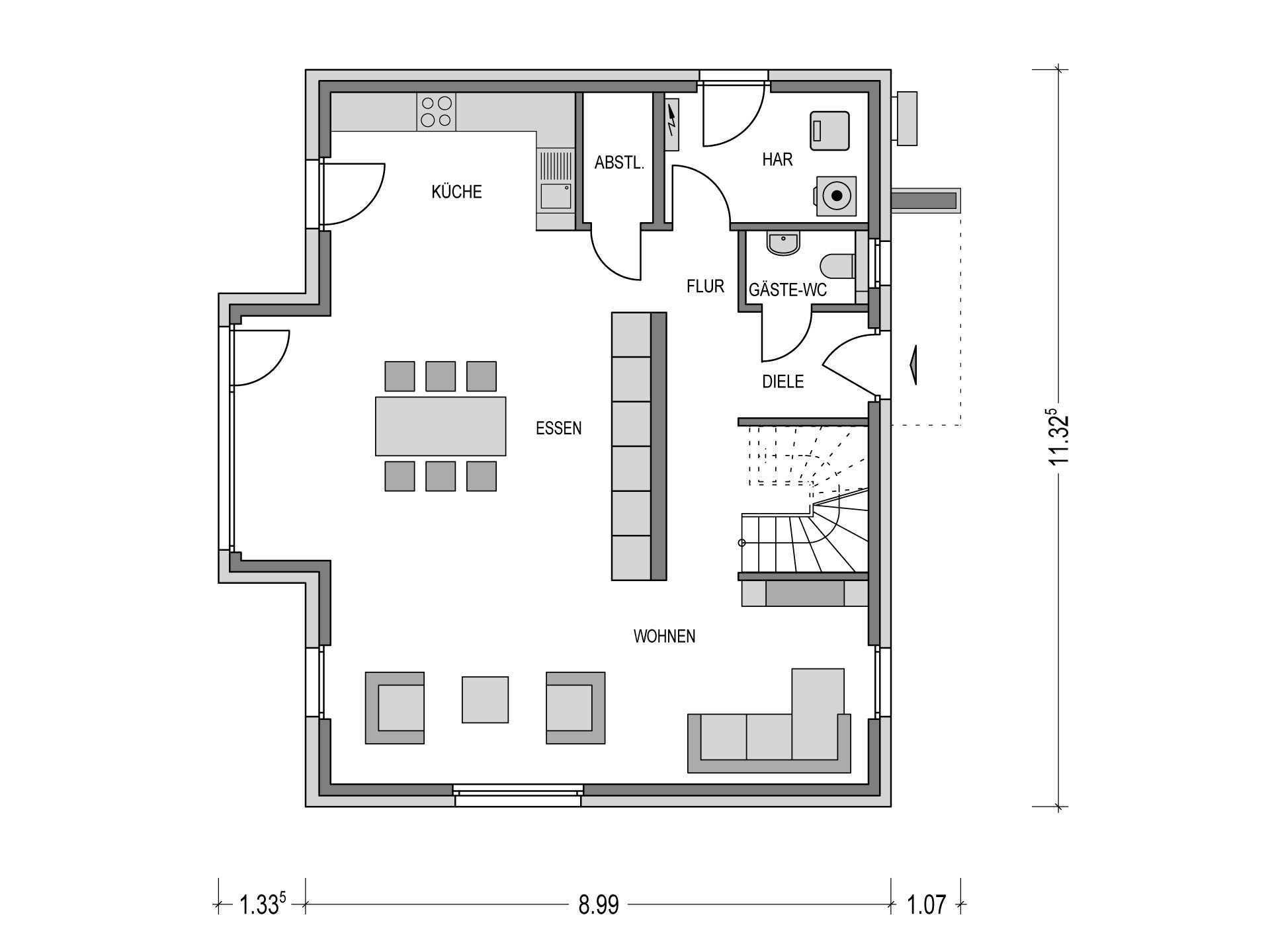 Einfamilienhaus variant 2000 2 deutsche bauwelten for Grundriss einfamilienhaus 2 vollgeschosse