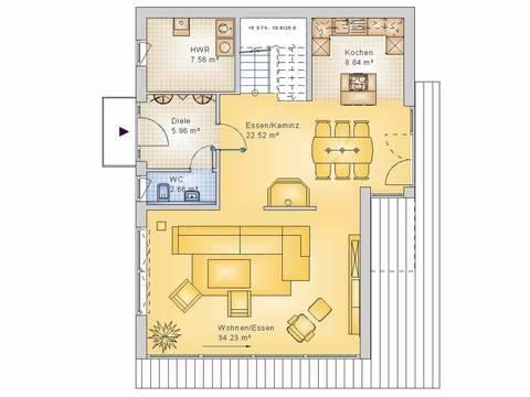 Econ Haus 10-017 Cubus Grundriss EG