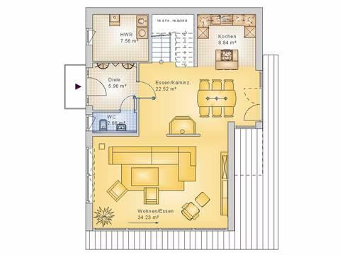 Econ Haus 10-017 Cubus Grundriss OG