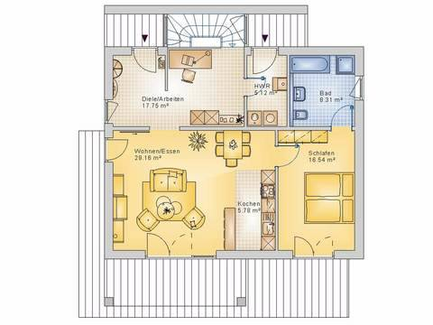 Econ Haus 20-014 Bungalow Grundriss