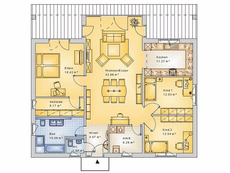 Econ Haus 20-018 Bungalow Grundriss