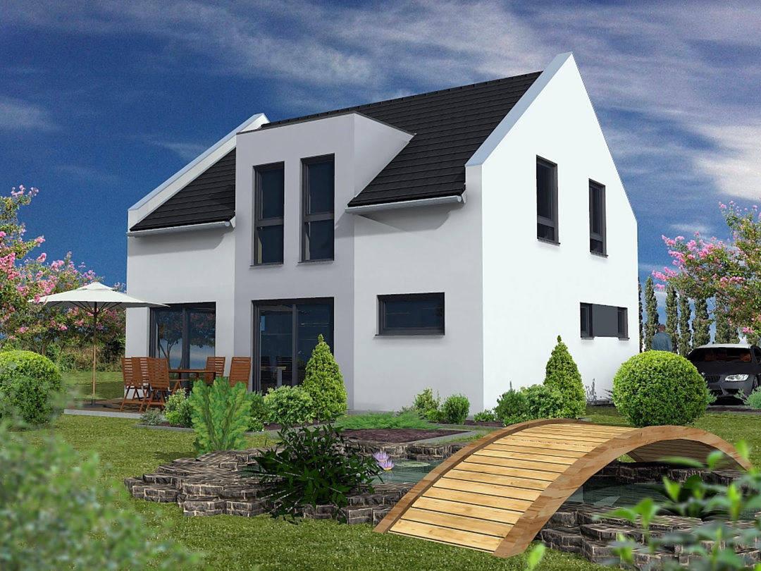 Rötzer Ziegel Element Haus Simply Clever 120 schwarz