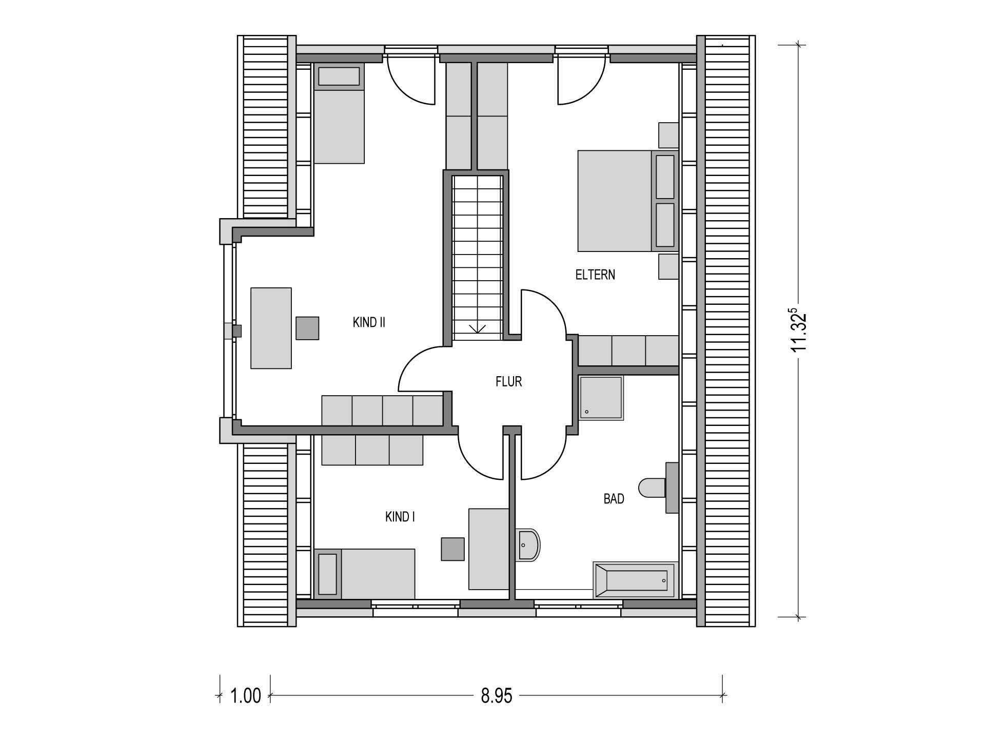 Haus ALTO SD.200.2 Grundriss DG von Heinz von Heiden