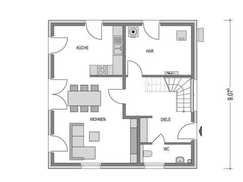 Stadtvilla ARCUS WD.100.2 Grundriss EG von Heinz von Heiden