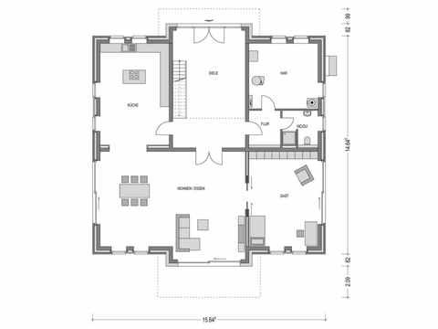 Stadtvilla ARCUS WD.500.2 Grundriss EG von Heinz von Heiden